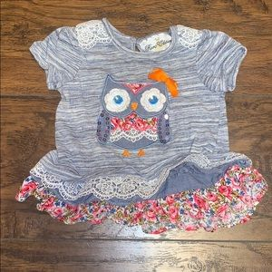Infant Rare Edition Owl Lace Top